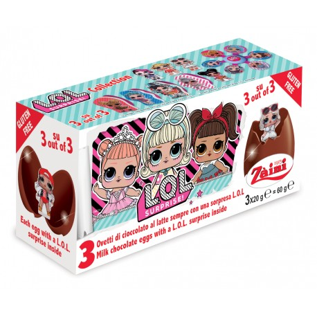 L.O.L. Chocolate Egg 3x20g, bal